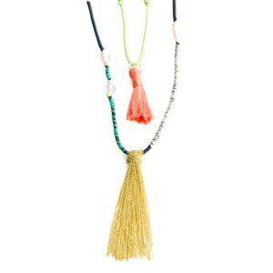 JewelMint Boho Threaded Tassel necklaces